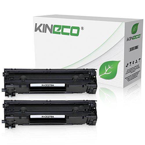 Kineco 2 Toner kompatibel zu HP CE278A CE278X für Laserjet Pro 1566 1600 Series 1606DN 1609DN, M1530 MFP Series, M1536DNF MFP, Schwarz je 2.100 Seiten - Hp Ce278a Kompatibel Toner