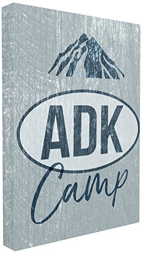 The Stupell Home Décor Collection ADK Camp Mountains Adirondack Wandschild, Canvas, Mehrfarbig, 40.64 x 3.81 x 50.8 cm
