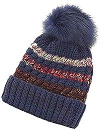 Uworth Gorros de Punto para Mujer Invierno Lana Sombrero de Punto de Mujer  Gorros con Pompon 0b38f93eaee