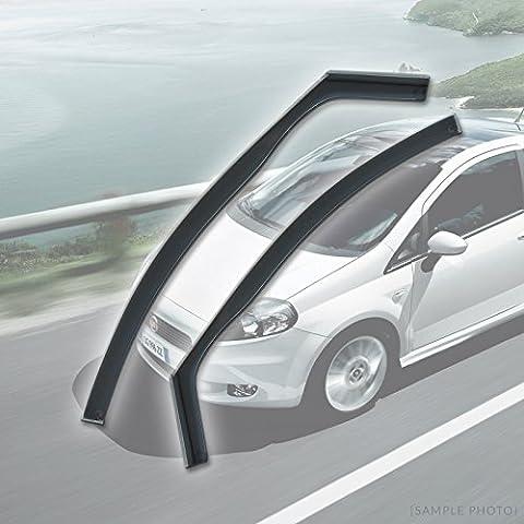 Fiat Grande Punto (2006 onwards 4DR FRONTS) Wind Deflectors Rain Wind Window Deflectors