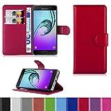handypelle® PREMIUM Tasche für Samsung Galaxy A3 (2016) +++ ACHTUNG: Nicht für Vorgängermodell +++ im Bookstyle in Rot - Book Case Flip Etui Hülle