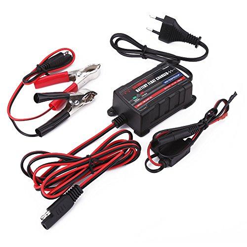 Qiilu 0.75A 6V 12V Automatische Batterie Trickle Ladegerät Maintainer für Auto Motor ATV RV (European Plug) 12 Volt 1 Amp Batterie-ladegerät