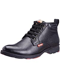 Lee Cooper Men's Black Leather Boots - 10 UK
