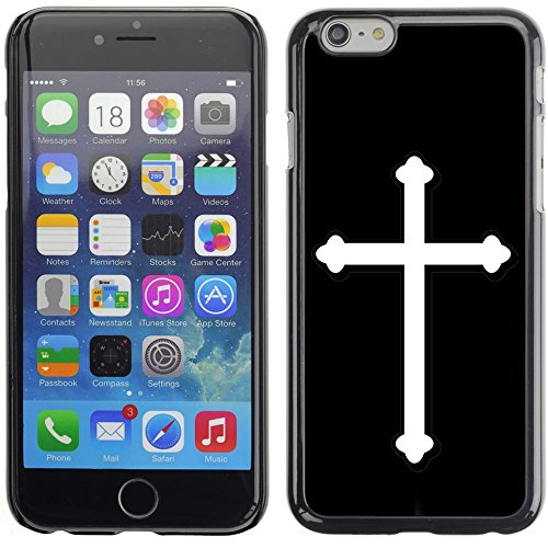 Graphic4You Kreuzr Design Harte Hülle Case Tasche Schutzhülle für Apple iPhone 6 Plus / 6S Plus (Aqua Blau) Schwarz