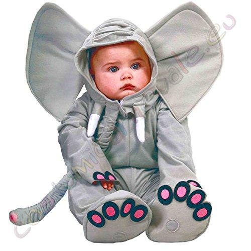 Costume Elefante Neonato - mesi 12-24