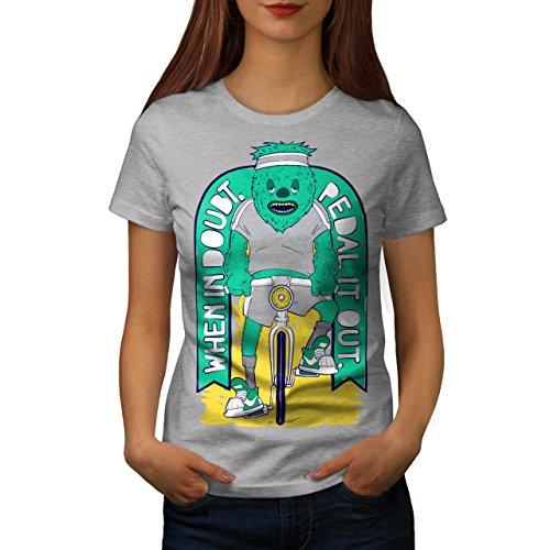 Pedal Fahrrad Zweifel Sport Damen S-2XL T-shirt | Wellcoda Grey