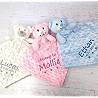 Personalised baby comforters Teddy bear blanket personalised gifts for baby girl personalised gifts for baby boy