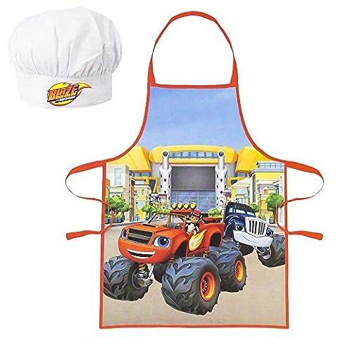 Tablier et toque de chef cuisinier enfant garçon Blaze et les Monster Machines 3/8 ans
