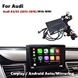Interface de Voiture Carplay Airbus Android Interface Compatible pour Audi A3 S3 écran d'usine 2013-2018 (Handfree, GPS Goolge, Mirrorlink)