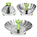 CookJoy Vegetable Steamers Basket,Stainless Steel Vegetable Steamer Insert, Food Steamer Basket with Collapsible