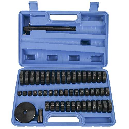FreeTec Juego de 52 herramientas de presión discos de montaje pieza de...