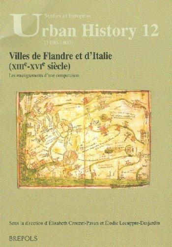 VILLES DE FLANDRE ET D'ITALIE (XIIIE-XVIE SIECLES). : LES ENSEIGNEMENTS D'UNE COMPARAISON