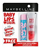 #10: Maybelline New York Baby Lips, Winter Flush, 4.4g and Baby Lips, Anti Oxidant Berry, 4g