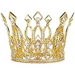 Frcolor Tiara Bodas Medievales Estilo Boda Nupcial Accesorios para el Cabello Joyas para el Cabello (Oro)