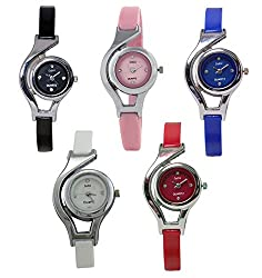 Codice Analog Multicolour Dial Watches for Girls and Women Combo of 5