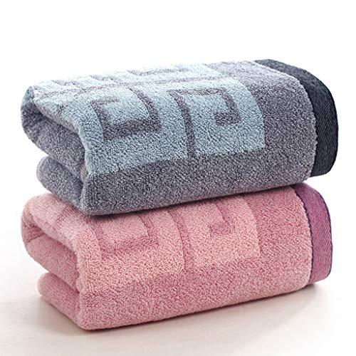 BNBO-L HWH Baumwolltuch, Verdickung Erwachsene Kind Haushalt Waschen Gesicht Handtuch Weiches Kind Große Handtuch Bade 2 STÜCKE Saugfähige Handtücher (Farbe : A)