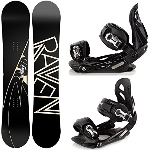 Snowboard Set: Snowboard Raven Element Carbon + Bindung Raven s250 Black M/L