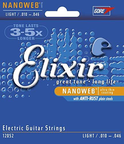 Elixir 12052 - Juego de cuerdas para guitarra eléctrica, .010 - 0.046