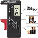 Digitaler Batterietester Batterie Testgerät und Akku Testgerät für AAA, AA, C, D, 1,5 V, 9 V, N- und Knopfzellen