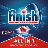 Finish All in 1,  Sparpack, Spülmaschinentabs, Spülmaschine, Geschirr, Geschirrspüler, Spülen, Reinigung,  110 Tablets