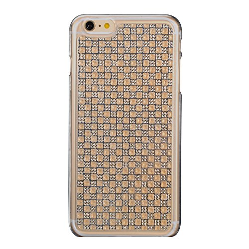 Cuitan Premium Qualität TPU Weiche Schutzhülle für Apple iPhone 6 plus / 6s plus(5.5 Inch), Modisch Frosted Diamant Bling Shinning Glänzende Case Cover Hülle Handytasche Rückseite Tasche Handyhülle Sc Gold