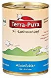 Terra Pura Bio Katzenfutter Lachsmahlzeit 400 g Glutenfrei, 12er Pack (12 x 400 g)