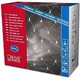 Konstsmide 3707-003 Microlight Lichternetz / für Außen (IP44) /  24V Außentrafo / 200 klare Birnen / transparentes Kabel