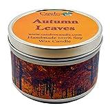 Candeo Candle Fallen Autumn Leaves, Duftkerze Soja, Dose (6oz), Herbst Kerzen