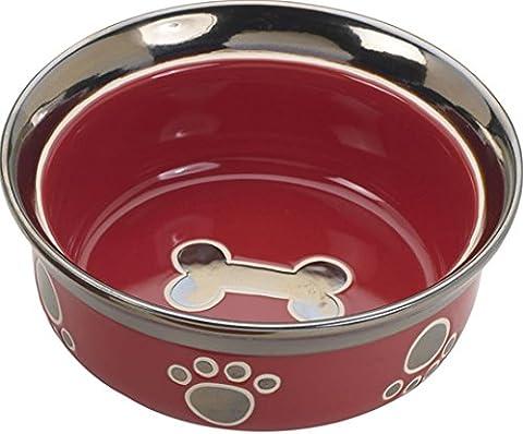 Ethische Steingut Dish 688827 5 in. Ritz Copper Rim Cat