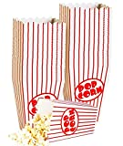 Kino Kleine Popcorn-Boxen–Papier Popcorn Boxen gestreift rot und weiß–ideal für Film Nacht Oder Film Party Thema, Theater Motto Dekorationen oder Karneval Party Circus etc.. (40)