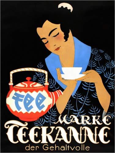 Posterlounge Leinwandbild 30 x 40 cm: Teekanne, der Gehaltvolle von Jupp Wiertz - fertiges Wandbild, Bild auf Keilrahmen, Fertigbild auf echter Leinwand, Leinwanddruck