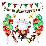 EisEyen Weihnachten Party Dekoration Merry Christmas Party Dekoration Latex Ballons Weihnachtsballons Banner Foto Requisiten Santa Ballon Set Festival