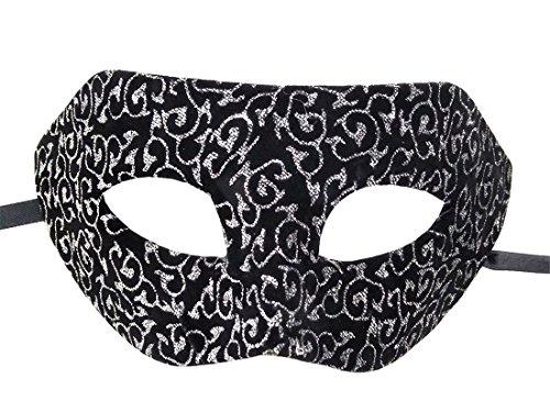 ke Flanell Antiquität Retro Venezianisch Party Ball Römisch Halloween Mardi Gras Karneval Maske (Silber Antique Muster) ()
