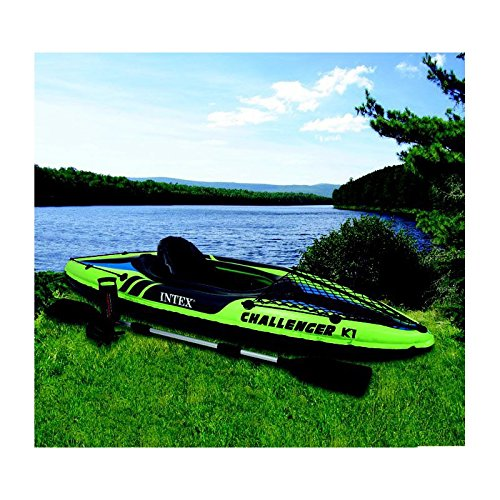 KAYAK HINCHABLE CON REMO K1 INTEX 274 X 76 X 33 CM.