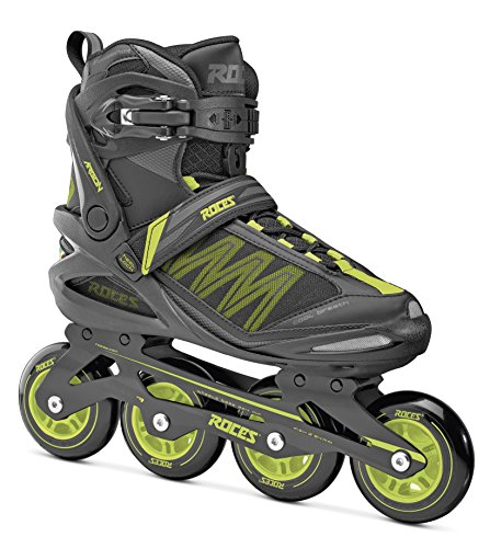Roces Erwachsene Argon Inline Skates, Black/Lime, 45