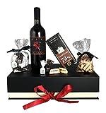 Lieferung bis 24.12. bei Bestellung bis 21.12. 14 Uhr mit Premiumversand Edles Geschenkset Purer Genuss mit Premium-Toskana Rotwein und italienischen Schokoladenspezialitäten
