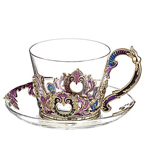 Haodan electronics Europäischen Stil Emaille Glas Kaffeetasse Set, Nachmittagstee Palace Tee Set...