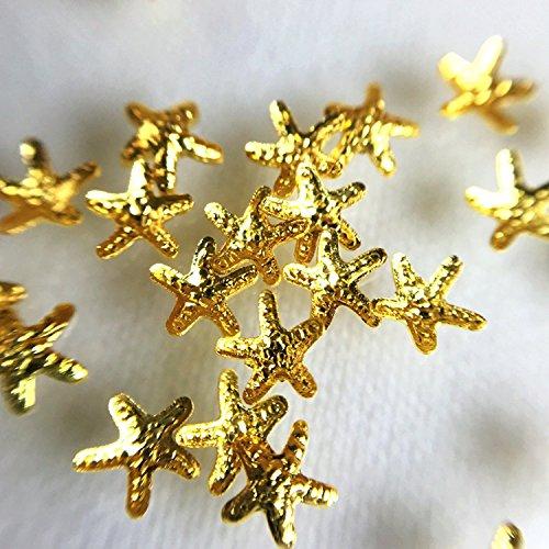 Marine Teile für Harz 50 Stück Seestern groß Gold (Cl-gold-harz)