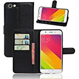 Codream Oppo F1S Case, Oppo F1S Wallet Case, Case Slim, Premium Slim Leather Wallet Back Case With Credit Card ID Holder Protective Case Compatible With Oppo F1s,Black