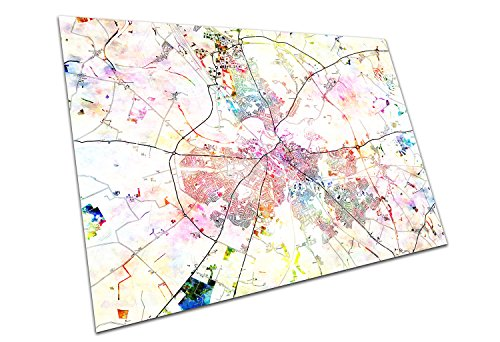 Carlisle England Street Map Names & Road Names City Town Colourful Map Size=A0