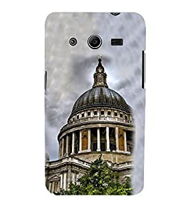 White House 3D Hard Polycarbonate Designer Back Case Cover for Samsung Galaxy Core 2 G355H