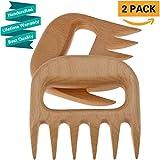 Carne Garras Bear Paws trituradoras Tirado Pork tenedores de diseño sólido para tallar madera en tiras para barbacoa accesorios herramientas (2pcs)