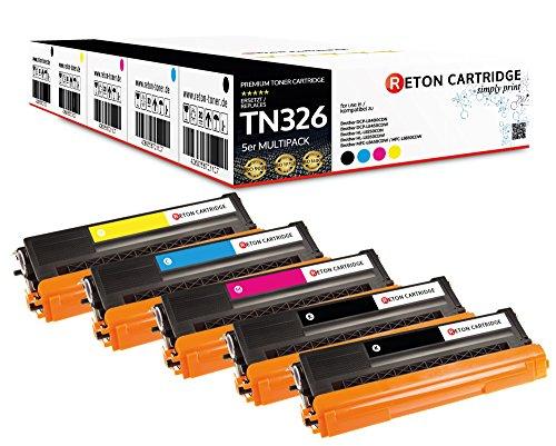 Preisvergleich Produktbild Original Reton Toner, kompatibel, 5er Farbset für Brother TN-326 (TN326BK, TN326C, TN326M, TN326Y), HL-L8250, L8350, L8350CDWT, L8250CDN, L8350CDW, MFC-L8600, L8850, L8600CDW, L8850CDW