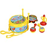 Baoli Bebé niño niño tamboril trompeta Maraca tambor conjunto juguetes