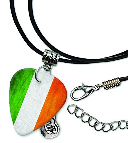 ireland-irish-grunge-flag-plektrum-halskette-leder-schnur-necklace-gd