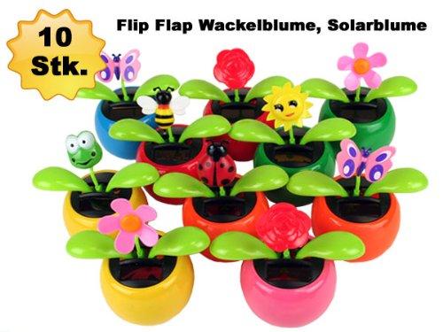 10 Stück Alsino Wackelblume, Solarblume, Solarflower Flip Flap