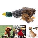 ECMQS Schöne Hundespielzeug Hundewelpen Kauen Plüsch Cartoon Tiere Eichhörnchen Baumwolle Seil Ente Geformt Squeak Spielzeug