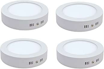 Ceiling lights buy ceiling lights online at best prices in india citra 6w led surface panel light pack of 4white fandeluxe Choice Image