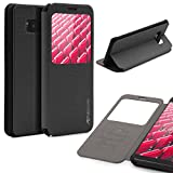 Urcover® Samsung Galaxy S8 Hülle, Wallet mit [ Standfunktion ] Schutzhülle Case Cover Etui Ständer Aufsteller Handyhülle für Samsung Galaxy S8 Farbe: Schwarz