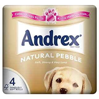 Andrex Natural Pebble 4 Rolls (Pack of 10)
